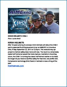 Motorcycle Helmets MEDIA RELEASE Aim Expo
